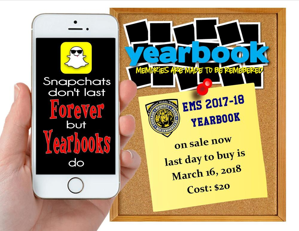 EMS 2017-18 Yearbook on sale now