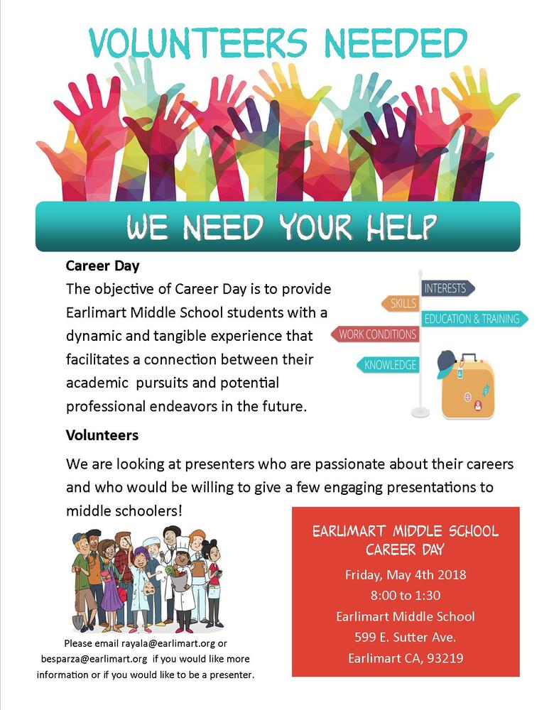 Volunteers Needed for EMS Career Day