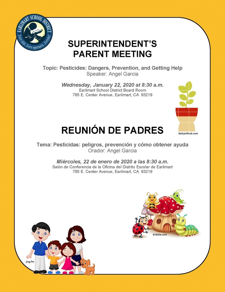 Superintendent's Parent Meeting 01/22/2020