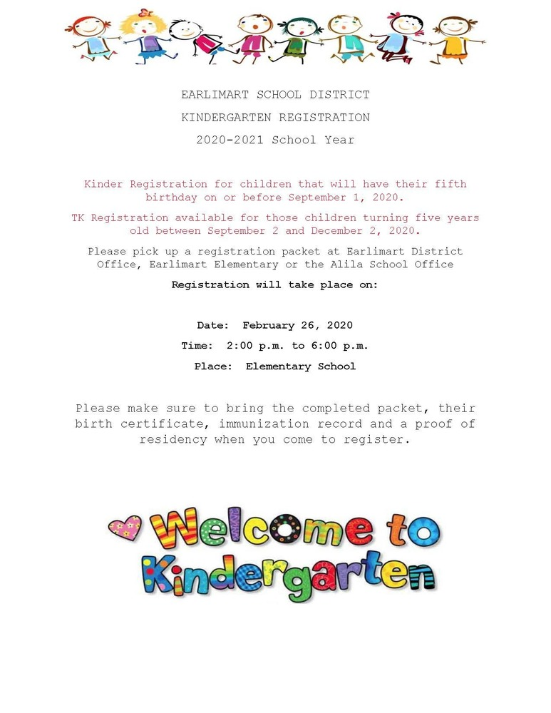 Elementary Kindergarten Registration