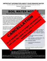 CANCELLATION OF BOIL WATER NOTICE