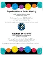 Superintendent Parent Meeting